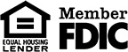 Member FDIC & Equal Housing Lender Logo